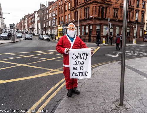 Santy Says No To Austerity by infomatique