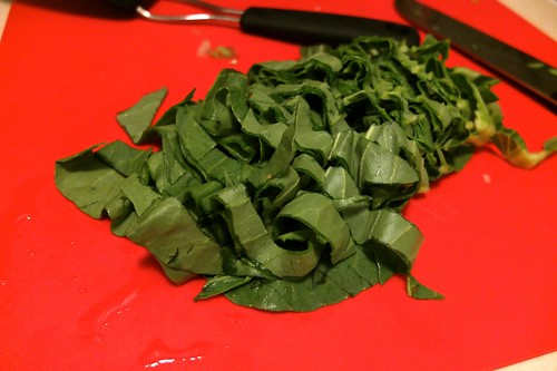 pok choi leaves