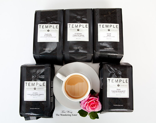 Various Temple Coffee beans