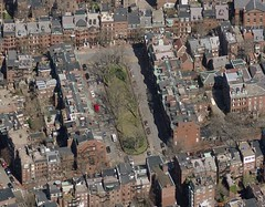 Boston's Louisburg Square (via Bing Maps & Placeshakers)