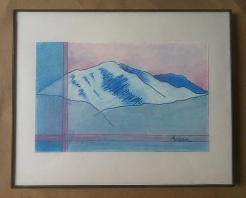 Colorado Drawings: Aspen (Framed) by randubnick