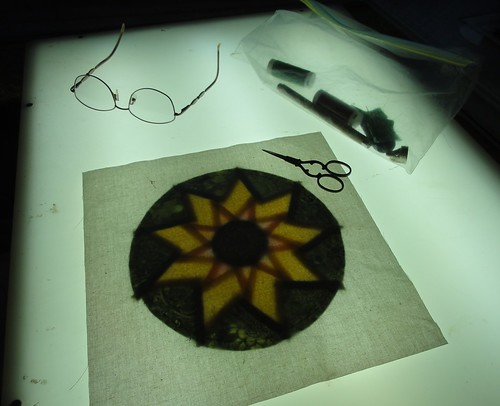 Sunflower applique 1