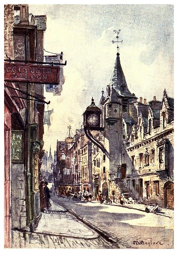 011-El Canonogate Tolbooth-Edinburgh, painted by John Fulleylove- 1904