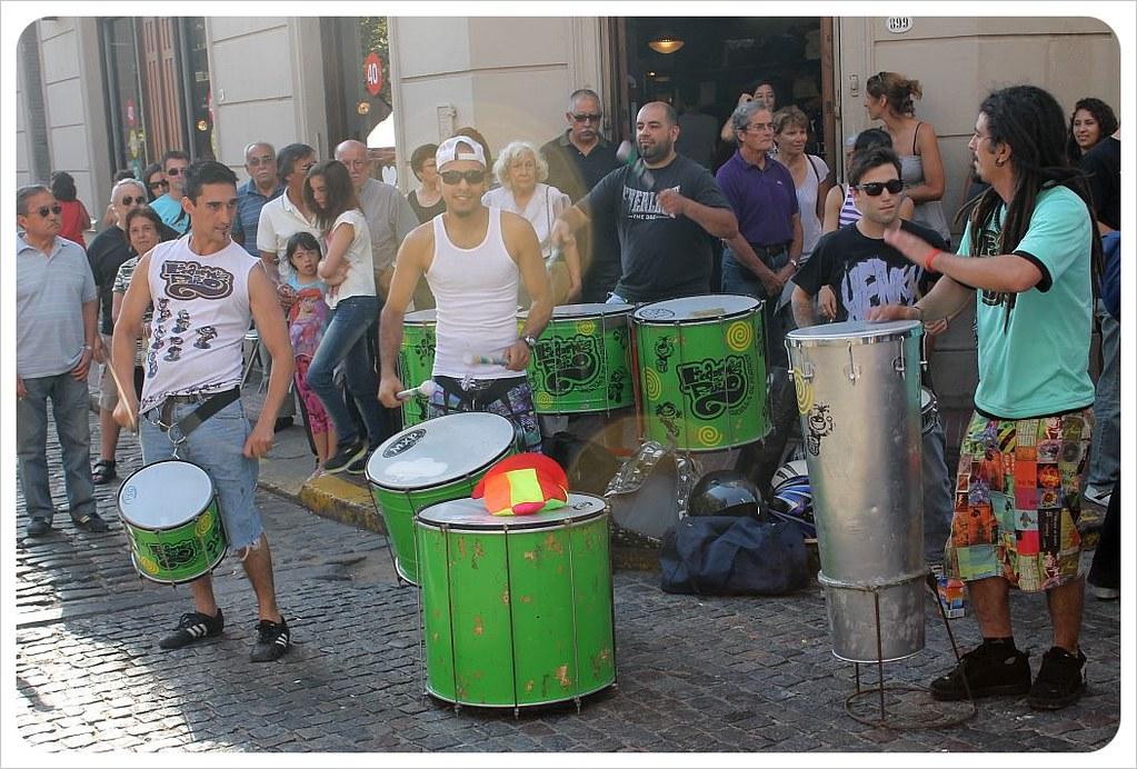 san telmo market drummers
