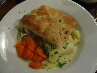 Chicken and Leek pie, St. Stephens, London