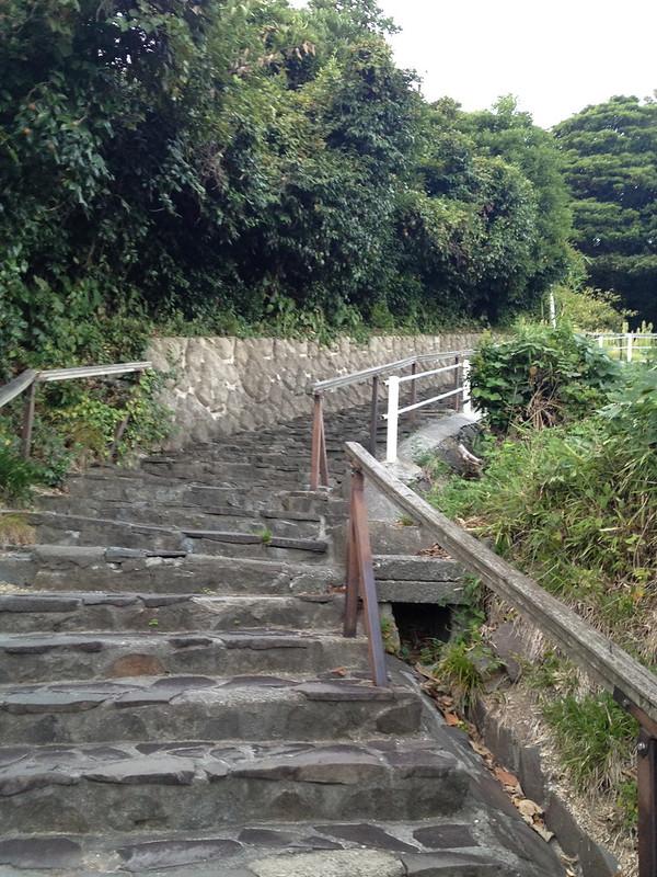 禄剛崎灯台へ続く道