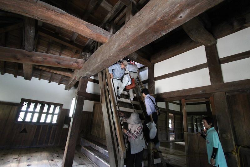 彦根城 急な階段