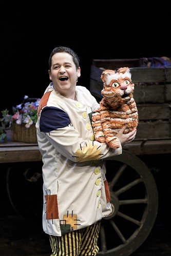 Ross Allan (Rory) and Puss in the Brunton Theatre's 2012 pantomime: Puss In Boots