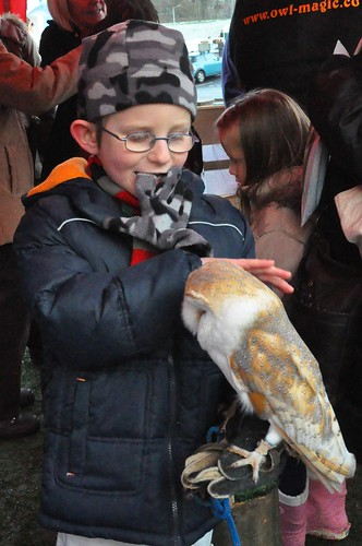 Léon and Cuddles the Barn Owl by PhylB