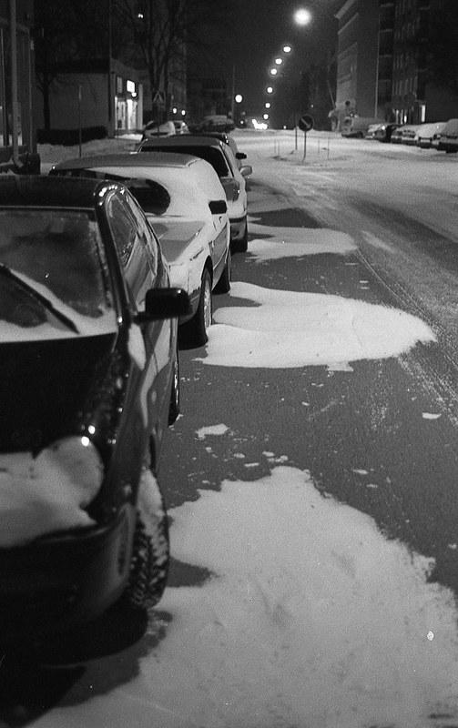 Snömönster vid bilar