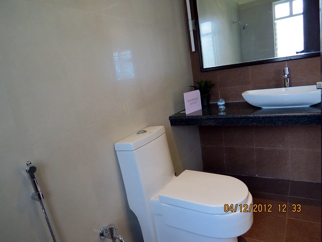 Attached toilet of the master bedroom - Show flat of Siddhashila Eira, 2 BHK & 3 BHK Flats in 16 Story 2 Towers with Amenities & Parking on & under the Podium at Koyate Vasti, Punawale, PCMC, Pune 411033