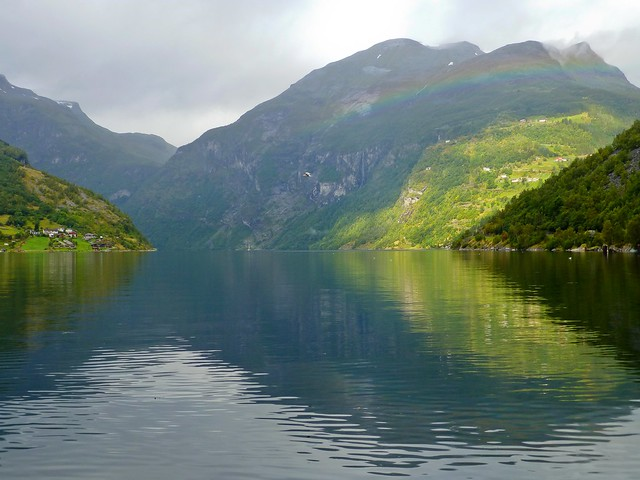 View from Geiranger into the Geirangerfjord (Unesco WHS)