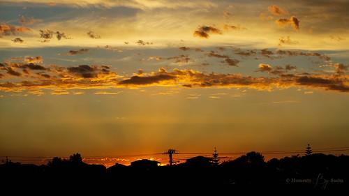 sunset beach clouds 50mm golden australia perth western rockingham warnbro