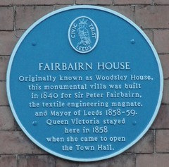 Photo of Victoria and Peter Fairbairn blue plaque