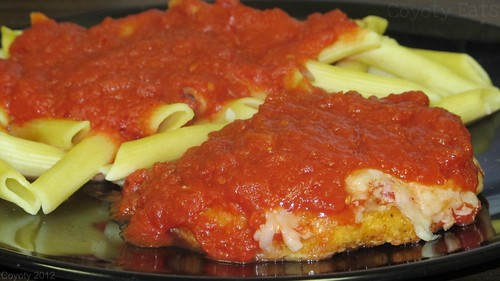 Chicken parmigiana and pasta by Coyoty