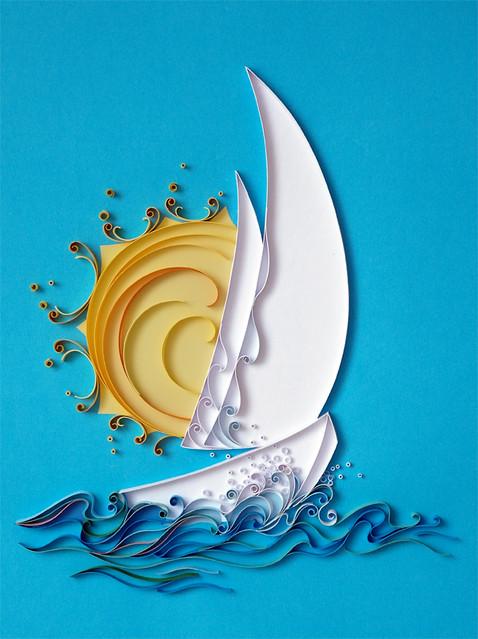 Quilled Boat by Natasha Molotkova