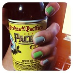 My two faves: cerveza and  nail polish