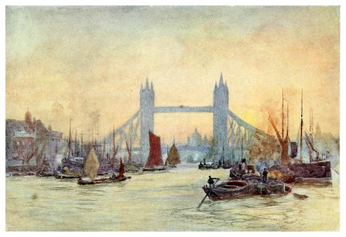025-El Tamesis desde Cherry Garden- The scenery of London- 1905-Herbert Marshall