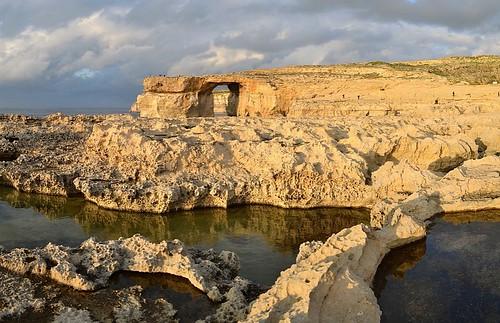 panorama malta limestone gozo stitchedimage dwejrabay theazurewindow dwejrapoint afsdxnikkor1855mmf3556gvr microsoftice iamnikon d3100 nikond3100