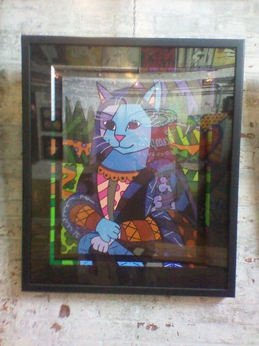 Mona Lisa as a Cat, Cubeworks Studio, Distillery District