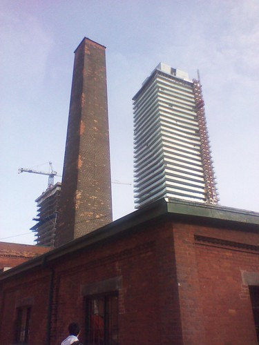 Condos rising over the Distillery District, December 2012