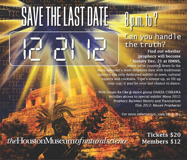 Will Prophecy Become History? Find out at HMNS Dec. 21!