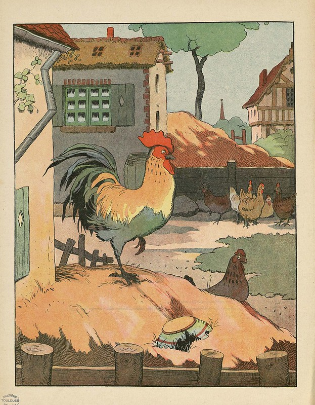 Le Coq - cartoon lithograph