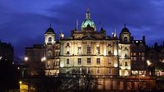Bank of Scotland building at dusk 03