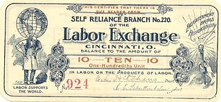 Labor Exchange Note #220 Ten obv.