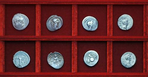 RRC 494-37,38,39 C.VIBIVS, L.MUSSIDIVS, Vibia, Octavian, Mussidia, RRC 495 LEPIDVS CAESAR Octavian Lepidus, Ahala collection Roman Republic