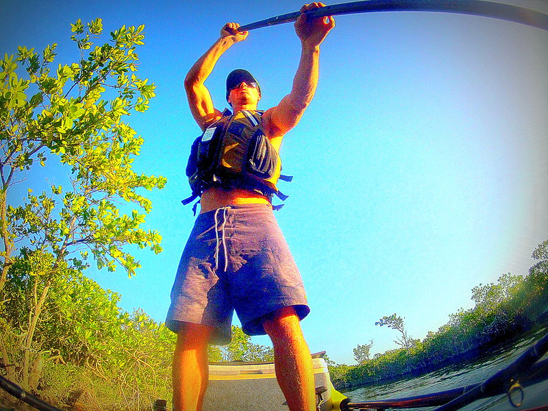 Drew Gregory from GoPro on the Jackson Kayak SUPerFISHal