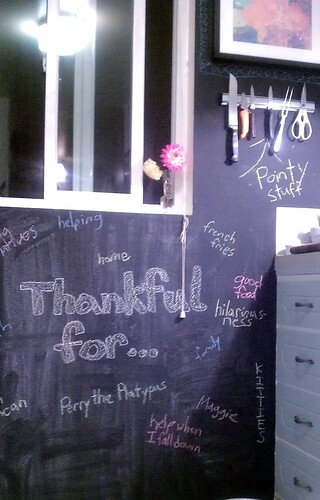 Thankful wall