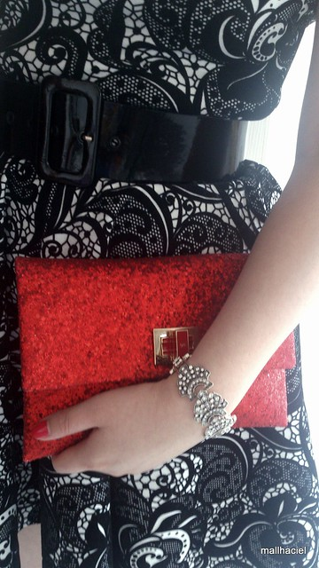 Anya Hindmarch  red glitter clutch