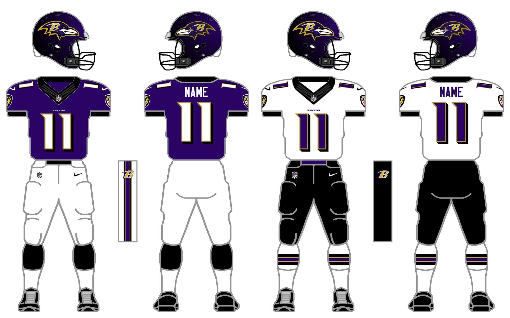 Nike NFL baltimore ravens home player jersey colors 970b3370e