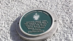 Photo of Great North Road green plaque