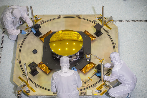 Webb Telescope's Secondary Mirror Looks Like a Giant Sun