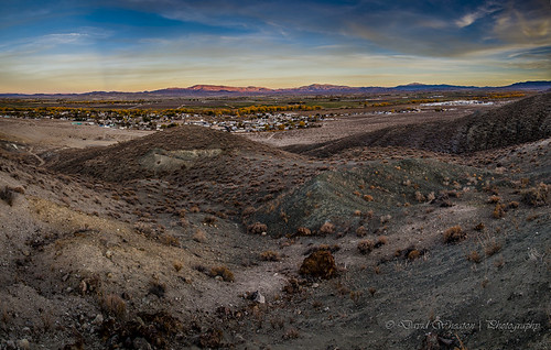 sunset moon canon landscape nevada nv mines yerington
