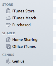 iTunes shared libraries