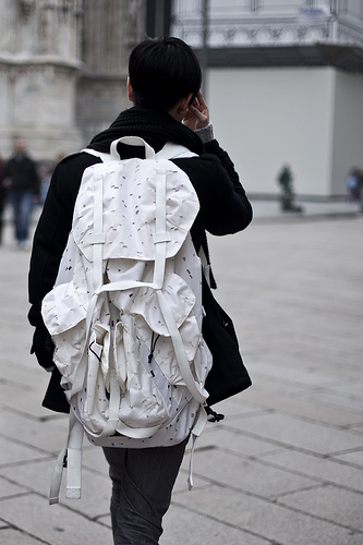 Tuukka13 - Non-Black Backpack Inspiration - Large White Backpack