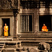 Angkor Wat monks in the frame by Man+machine