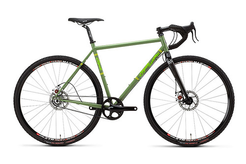 Spot Mod Disc: single-speed, belt-drive, BB7's. Our team's most popular bike.