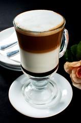 food(0.0), coffee cup(0.0), caff㨠americano(0.0), dessert(0.0), espresso(1.0), cappuccino(1.0), cup(1.0), mocaccino(1.0), saucer(1.0), caf㩠au lait(1.0), coffee(1.0), caff㨠macchiato(1.0), drink(1.0), irish coffee(1.0), latte(1.0),
