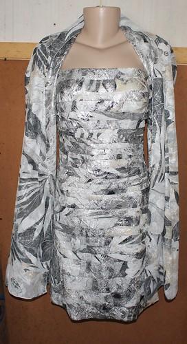 Vestido Prata Metalizado