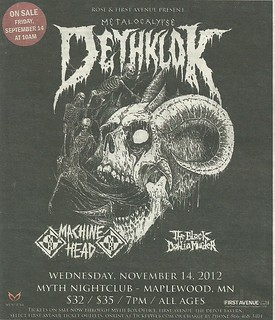11/14/11 Deathklok/ Machine Head/ The Black Dahlia Murder @ Myth, Maplewood, MN