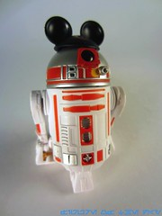 Silver and Red Droid Factory R2-Series Astromech Droid