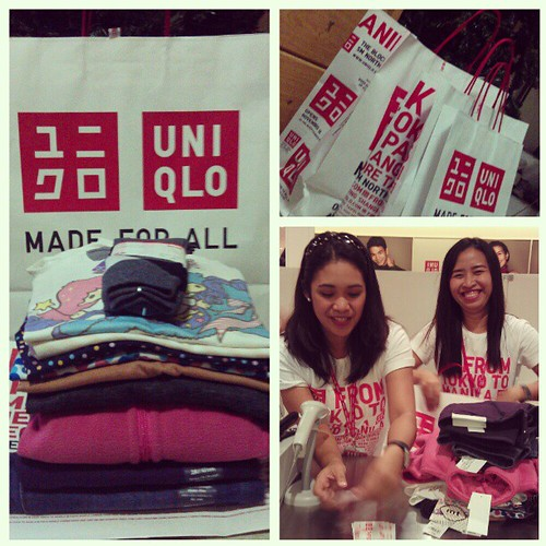 Happy Shopping indeed @ Uniqlo The Block @SMmalls @SMnorthEdsa VIP pre-opening #shopping event! Thanks again @UniqloPh