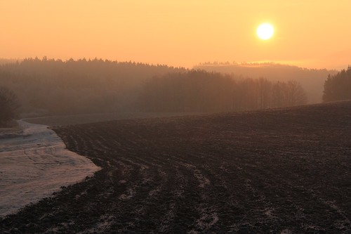 pink sun mist field sunrise germany dawn village hoarfrost thuringia soil goldensky yellowsky schackendorf rauhreif