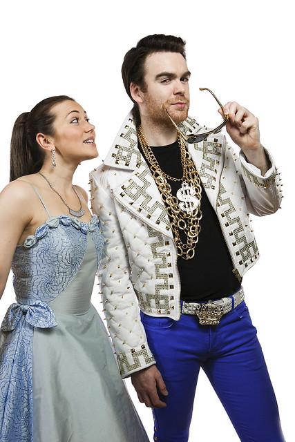 Julie Heatherill (Cinderella) and Martin McCormick (Prince Pierre) in the Royal Lyceum Edinburgh's Cinderella, December 2012. Photo Eoin Carey.
