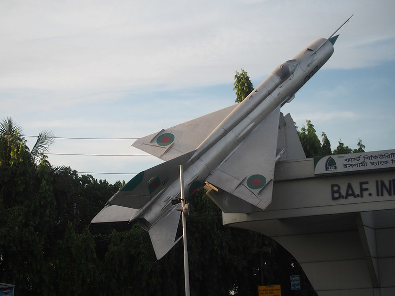 Displayed Mig-21 Fighter Jet
