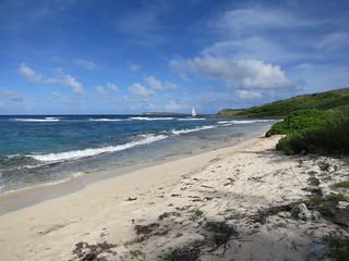 Image of  Pinel Island (Ilet Pinel) Beach with a length of  234  meters. ocean beach saintmartin caribbean pinel